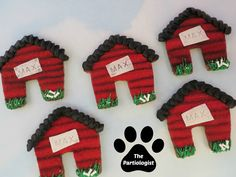 The Partiologist: Pupcakes in the Park Dog House Human Cookie Tutorial! Iced Sugar Cookies, Royal Icing Cookies, Cookie Tutorials, Dog Cakes, Paw Patrol Party, Dog Birthday, Birthday Ideas, Dog Treat Recipes, Party Shop