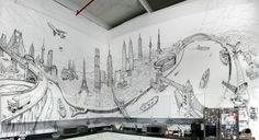Global City Wall Painting – Fubiz™  http://www.fubiz.net/2012/06/20/global-city-wall-painting/#