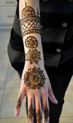 Full Arm Wedding Bridal Henna Designs
