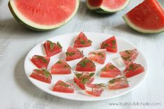 Watermelon Mojito Jello Shots