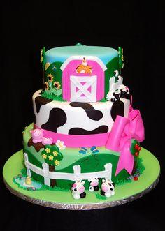 farm girl birthday cake | Birthday cakes for all ages