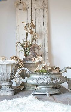 lightly painted Vintage Silver Tureen