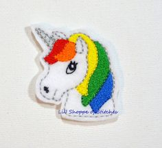 Hey, I found this really awesome Etsy listing at https://www.etsy.com/listing/239680774/embroidered-feltie-applique-rainbow