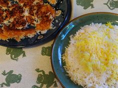 Persian Rice (tah-dig) is def in my top 10 fav foods ever!  Cannot wait to try this mypersiankitchen.com recipe!