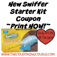 ~*~ PRINT NOW!!! ~*~ New $2/1 Swiffer Starter Kit Coupon ~ $1.99 at Target! ~*~  Click the link below to get all of the details ► http://www.thecouponingcouple.com/new-swiffer-starter-kit-coupon/ #Coupons #Couponing #CouponCommunity  Visit us at http://www.thecouponingcouple.com for more great posts!