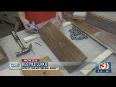 Tips from the Restyle Junkie in how to distress and stain new wood to make it look old on Good Morning Arizona. Repurposed Wood, Reclaimed Barn Wood, Old Wood, Old Things, Things To Come, Distressed Wood, How To Distress Wood, Wood Pallets, Painted Furniture