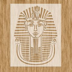 SE0103 - Egyptian Pharaoh King TUT Stencil