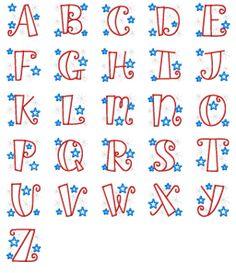 Alphabets :: Patriotic Applique Alphabet - Embroidery Boutique