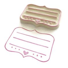 Adorable Address Lines Hand Carved Rubber Stamp by creatiate