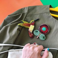 Handmade unique beaded brooches. https://www.etsy.com/shop/goldstrazz ✈️✈️✈️ #goldstrazz
