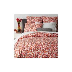 West Elm Camo Floral Duvet Cover, King, Ember - Duvet Covers - Bedding ($35) ❤ liked on Polyvore featuring home, bed & bath, bedding, duvet covers, red, camouflage bedding, camoflauge bedding, red shams, west elm bedding and red bedding