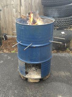 Burn Barrel, Drum Smoker, Smoke Bbq, Yard Landscaping, Swimming Pools, Funny Pictures, Management, Gardens, Cottage