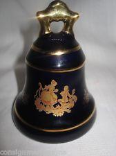 Limoges Castel Bell Cobalt Blue Porcelain France 22K Gold Courting Couple EUC