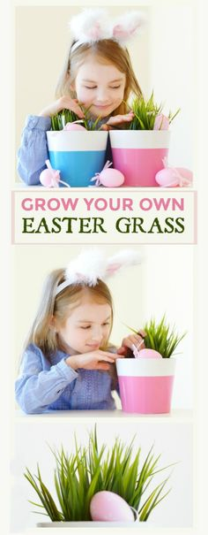 EASTER PROJECT FOR KIDS: GROW YOUR OWN BASKET GRASS (My kids loved this!)