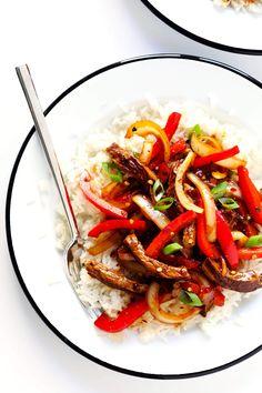 Szechuan Beef Stir-Fry with Szechuan Sauce