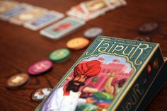 """Jaipur is one of the best 2 player games out there. Wish we would have thought of it """":^{D> Two Player Games, Tabletop Games, Appetizers For Party, Jaipur, Card Games, Board, Dice, Foods, Amazing"""