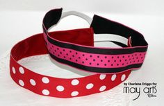 Tutorial: Velvet lined ribbon headband