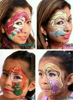 Face Painting Kit for Kids with Glitter and Bonus Ebook with Video Directions and Printable Face Paint Ideas Disney Face Painting, Girl Face Painting, Face Painting Designs, Painting For Kids, Paint Designs, Body Painting, Face Paintings, Maquillage Halloween, Halloween Makeup