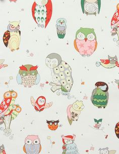 Alexander Henry's It's A Hoot In Natural, Home Decor Fabric/ Canvas Half Yard