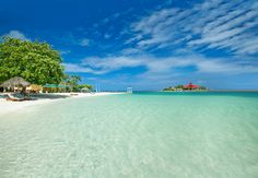 Sandals Royal Caribbean (in Montego Bay) offers a private island and exchange privileges with other resorts.  Soooo many options for you and easy to get to from Upstate NY.