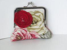 SALE clutch handbag gift bags wedding vintage by PaperFlora, $14.00