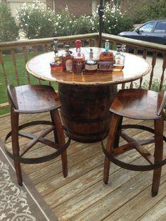 Jack Daniels Jd Barrel Bistro Table Man Cave Whiskey