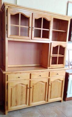 Muebles provenzales al mejor precio. Libreria de 3 puertas cristaleras, ancho 150 cm y color miel 375€ Consultar transporte
