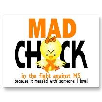 Multiple Sclerosis Mad Chick In The Fight Post Cards by awarenesschicks