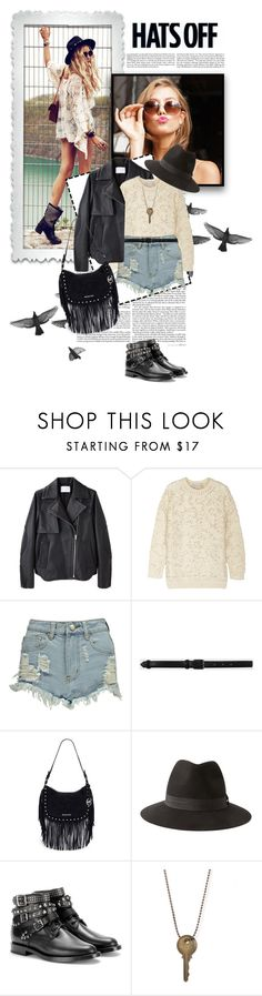 """""""Hats Off"""" by edenslove ❤ liked on Polyvore featuring Alexander Wang, STELLA McCARTNEY, Boohoo, Life With Bird, MICHAEL Michael Kors, Forever 21 and Yves Saint Laurent"""