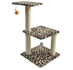 3 Tier Sisal Cat Activity Tree -- Wow! I love this. Check it out now! : Cat condo