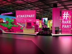 - that's the motto chosen by Deutsche Telekom to present the digital world of tomorrow at the Mobile World Congress in Barcelona. Exhibition Booth Design, Exhibition Display, Stage Design, Event Design, Mwc Barcelona, Dance Studio Design, Beauty Expo, Mobile World Congress, Experiential Marketing