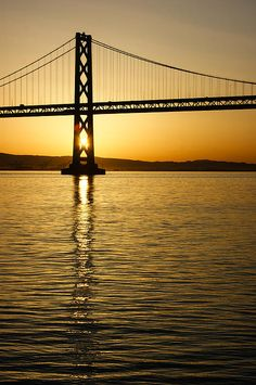 Title Framing The Sunrise At San Fransisco's Bay Bridge In California Artist Georgia Mizuleva Medium Photograph - Fine Art Photograph San Francisco City, San Francisco Giants, Best Landscape Photographers, Dock Of The Bay, Photo Boards, San Fransisco, Beautiful Sunrise, Cool Landscapes, City Buildings