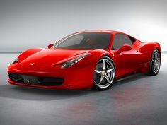 Beautiful Red Ferrari 458 Italia