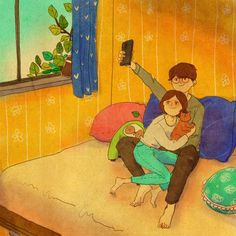 "Puung love illustration ""Selfie"""