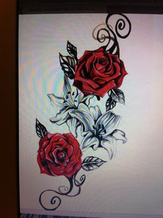 Would love as a outer thigh tattoo to commemorate my family's interest on roses and Lily's