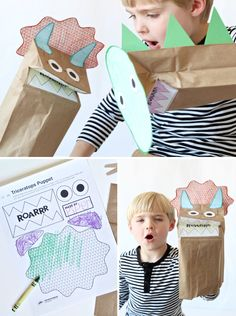 Printable-Dinosaur-Craft-Puppet