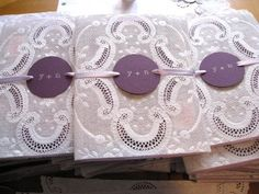 Alice in Wonderland-inspired. :  wedding Eyelet Inspired Doily Invitation Set