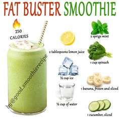 Low Calorie Smoothies, Good Smoothies, Smoothie Drinks, Weight Loss Smoothies, Smoothie Recipes, Diet Recipes, Cooking Recipes, Healthy Recipes, Healthy Drinks