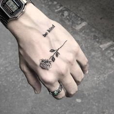 Watch and hand tattoos Finger Tattoos, Body Art Tattoos, New Tattoos, Girl Tattoos, Sleeve Tattoos, Tattoo Ink, Tatoos, Tattoo Wave, Sanskrit Tattoo
