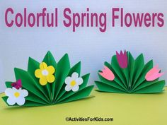 A pretty bouquet of flowers for Mother's Day or to celebrate spring - a stand-up array of colorful flowers. Great Mother's Day craft for kids. Printable from Activities For Kids