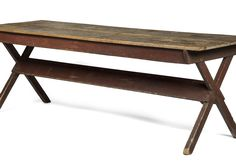 New England Maple and Pine Sawbuck Table