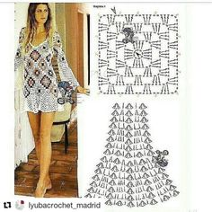 Best 6 Nice increase stitching for drapey section, maybe for a top – SkillOfKing. Crochet Beach Dress, Crochet Summer Dresses, Black Crochet Dress, Crochet Tunic, Crochet Clothes, Crochet Long Sleeve Tops, Baby Dress Tutorials, Mini Vestidos, Crochet Woman