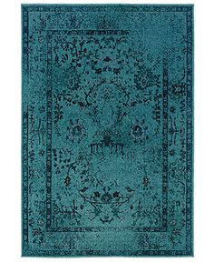 I cannot afford this at all    Sphinx Rugs, Revamp REV7550H Turquoise - Rugs - Macy's