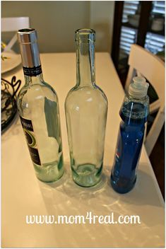 a Wine Bottle Soap Dispenser. Perfect! I've been trying to figure out what I wanted to do with my soap for a long time!