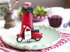 Italienische Tischdeko mit ganz viel Amore - vespa-2  Rezept