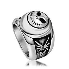 Yunsion Vintage Black JACK Ring 316L Stainless Steel Titanium Men Ring Cool Punk Fashion Jewelry Aging Treatment 1 piece (10)  by Yunsion