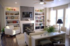 Living Room Idea - Townhouse - PARADE OF HOMES