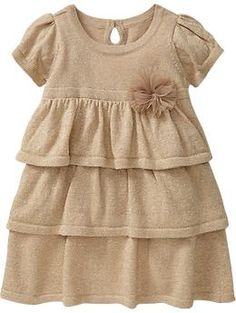 Old Navy Metallic Ruffled Dresses for Baby