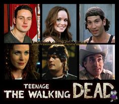 Teenage The Walking Dead - Andrew Lincoln, Sarah Wayne Callies, Jon Bernthal, Norman Reedus, Jeffrey DeMunn #TheWalkingDead