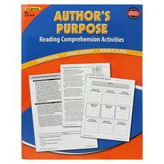 AUTHORS PURPOSE BOOK BLUE LEVEL